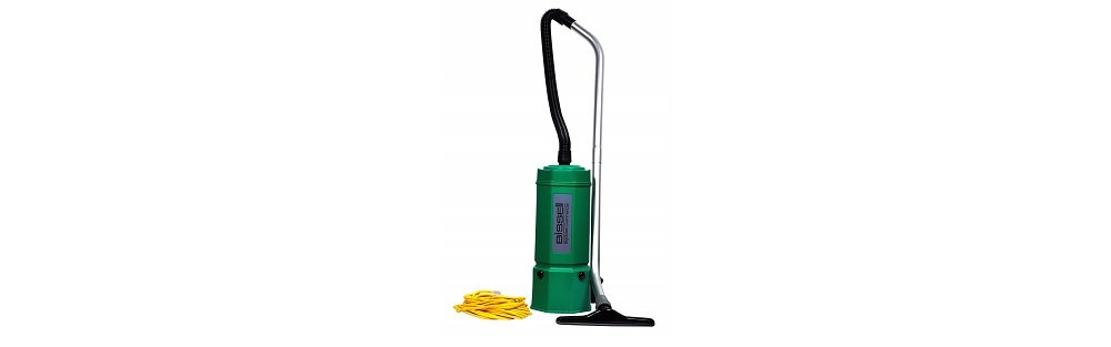 Bissell BigGreen Commercial BG1006 High Filtration Backpack Vacuum, 1080W, 22.5 Height, 6 qt Capacity, Red