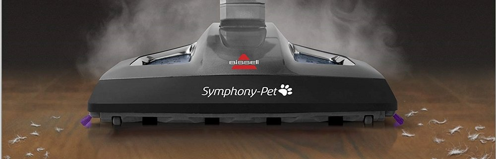 Bissell Symphony Pet Steam Mop and Steam Vacuum Cleaner for Hardwood and Tile Floors, with Microfiber Mop Pads, 1543A