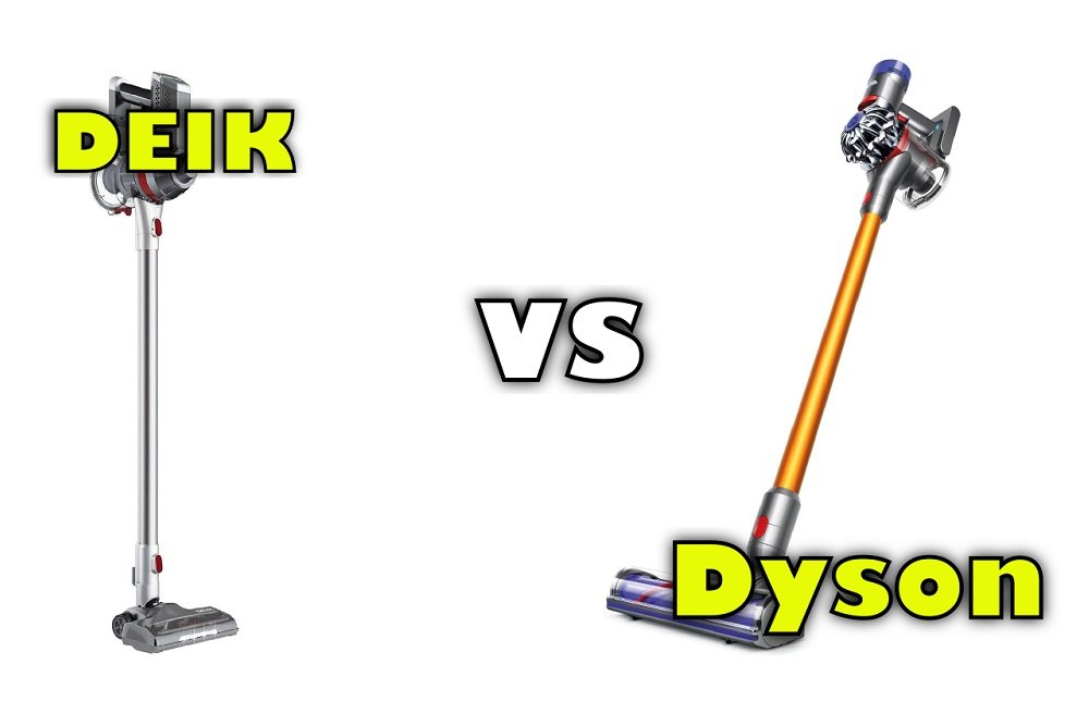 Deik Vacuum Cleaner Vs Dyson V8 Amp V7 Stick Vacuum Comparison