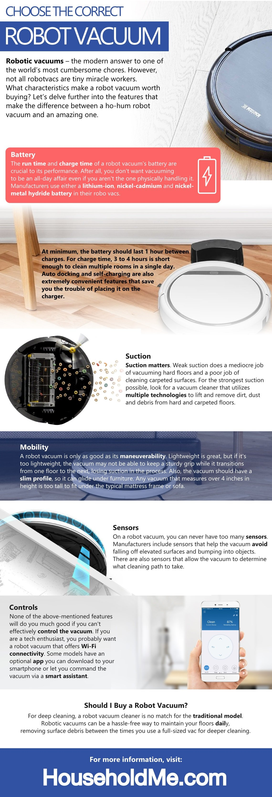 Choose the Correct Robot Vacuum Infographic