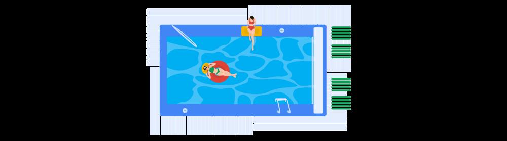 Pool Illustration
