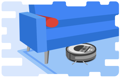 Robotic Vacuum Illustration