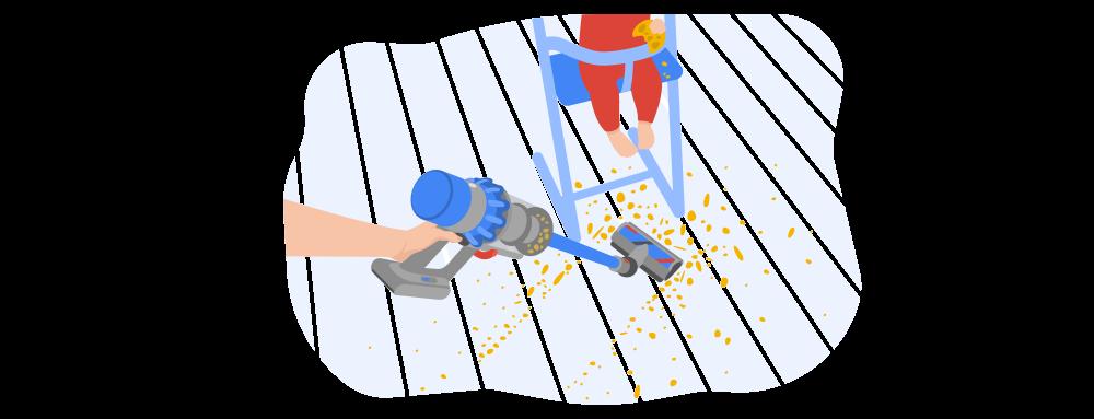 Stick vacuum Iluustration