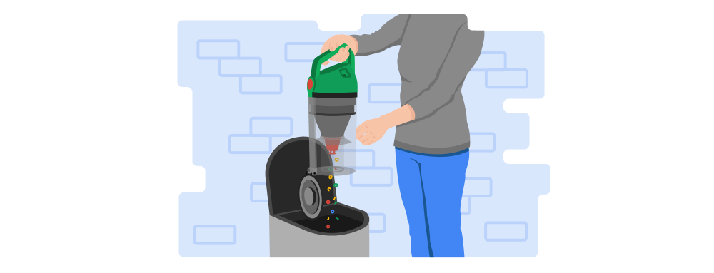 Upright Vacuum Illustration