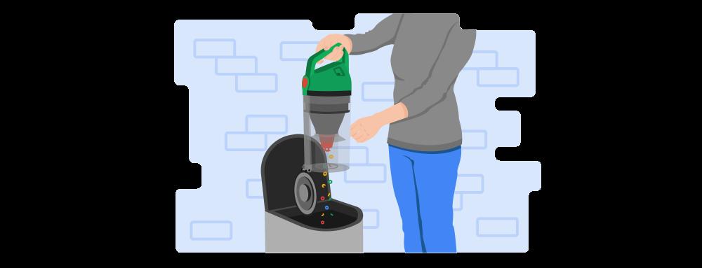 Upright Vacuum Illustration