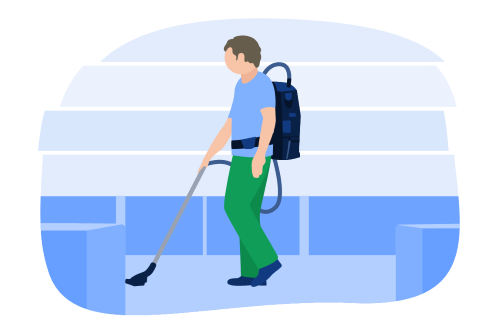 Backpack Vacuum Illustration