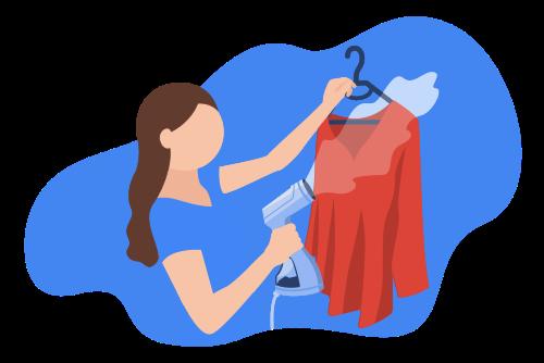 Garment Steamer Illustration