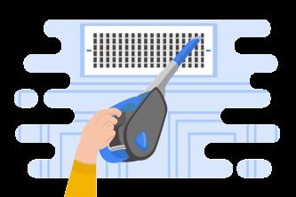 Handheld Vacuum Illustration