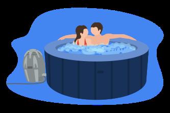 Hot Tub Illustration