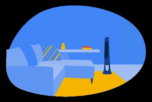Tower Fan Illustration