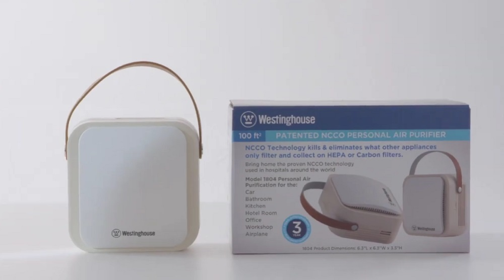 Westinghouse 1804 Patented NCCO Technology Portable Air Purifier